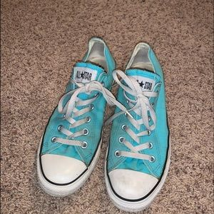 Teal Low Top Converse All-Stars